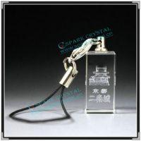 厂家大量供应创意钥匙扣 带灯发光钥匙扣情侣水晶挂件