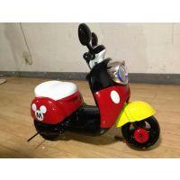 批发新款高档儿童米奇款儿童电动三轮踏板摩托车