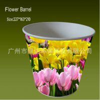 定制鲜花大纸桶,定做纸桶,定制纸花盆,鲜花桶