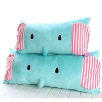 忧伤马戏团 大象卡通毛绒靠垫 薄荷小象可拆洗单人枕双人枕