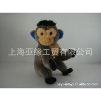 供应20CM高毛绒仿真猴 毛绒填充玩具高品质猴