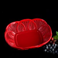 生产厂家批发各式创意陶瓷水果盘水果篮 外贸出口 编织陶瓷工艺品