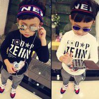 韩果儿童装批发B 冬装韩版男童长袖T恤 儿童不倒绒打底衫 童T恤
