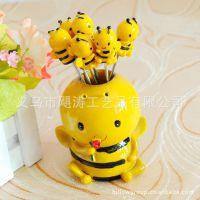 可爱小蜜蜂6叉水果叉 2-5-含玫瑰的呵 求爱情侣 温馨圣诞礼物