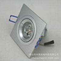 品牌直销 3w 室内装饰照明灯具 方形LED筒灯
