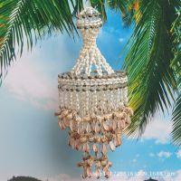 天然贝壳风铃挂饰,海螺工艺品,挂件礼物,大号平