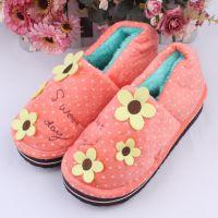 大促批发好极三朵花包跟棉拖鞋冬季保暖毛绒棉拖居家拖鞋