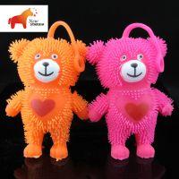 厂家直销  闪光毛毛熊 儿童玩具 毛绒玩具批发
