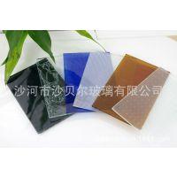 优质3mm 4mm 5mm 6mm白色透明 茶色 蓝色海棠花压花玻璃