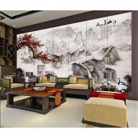 彩虹石品牌瓷砖背景墙 卧室背景墙装修效果图大全-江山美如画