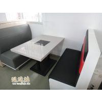 供应广州连锁中餐厅双人布艺单双面卡座沙发【价格实惠】