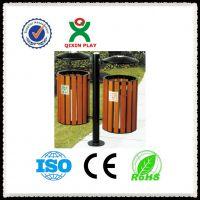 供应马路垃圾桶 木制垃圾桶 分类果皮箱 广州奇欣QX149H