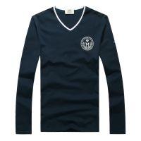 免费代理 2013新款 男士长袖T恤 加厚打底衫 V领男tee 长期有货