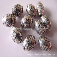 厂家直销塑料复古带花纹吊坠 古银色吊钟 服装饰品配件 珠子批发