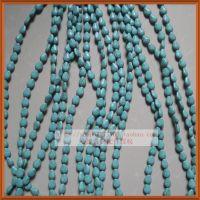 13mm直孔水滴形饰品配件/天然绿松石/蓝色diy隔珠散珠子材料批发