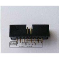 DC3 16P简牛直脚 2.54间距 2*8P双排围墙座 ISP下载接口JTAG插座