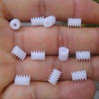 东莞秦硕齿轮厂供应塑胶蜗杆 M0.5*6*8*1.9双头塑料蜗杆