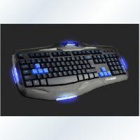 硕科达K80游戏键盘/LOGO周边发光键盘/高键帽 批发