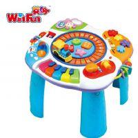 英纷玩具婴儿学习桌游戏台架早教音乐益智0-3岁幼儿双语功能0801