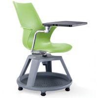 格友家具供应学校用PCF-040高档简约塑料带写字板培训椅