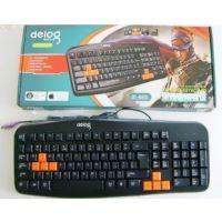 供应德意龙802防水商务键盘 有线USB PS/2游戏键盘 电脑耗材工厂直销