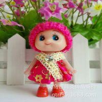 8厘米韩国全新围巾金边迷糊娃娃 淘宝赠品创意小礼品 搪胶玩具