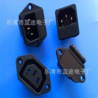 厂家销售电源三插座 带耳朵 AS-05 AC-02 电动车电脑主机电源插座