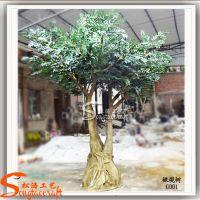 仿真植物橄榄树 景观设计工程仿真树 人造玻璃钢工艺品
