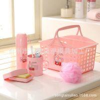 时尚浴室用品 浴室五件套 洗浴洗漱套件 卫浴塑料套装