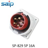 供应实力雄厚优质供货商5个孔位CE工业用尼龙SP829工业插头IP67暗装