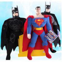 一件代发超人总动员玩偶超人公仔蝙蝠侠黑侠玩偶毛绒玩具批发