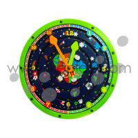 旋转时钟 绿色 益智环保 锻炼动手能力 儿童木质墙面游戏