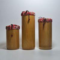 巨匠厂家定制布袋式2015独特创意竹子茶叶筒礼品包装