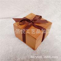 轿车饰品挂件 汝窑瓷器易碎品包装木盒 天然竹木木盒 可印LOGO