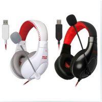 供应Salar/声籁 KX235游戏耳机头戴式带麦克风 专业USB电脑耳麦