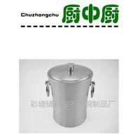 不锈钢小蛮腰双层双环冰桶酒店用品冰粒桶香槟桶