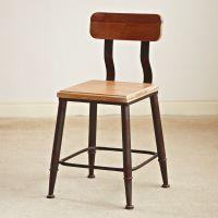 美式乡村仿锈做旧餐椅 铁艺实木椅子酒店椅子餐厅椅子咖啡椅 批发