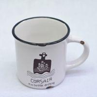 复古陶瓷杯 牛奶杯 马克杯 早餐杯  仿搪瓷杯 ZAKKA杂货