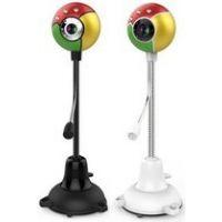 供应七彩球高清摄像头 麦克风夜视灯USB视频 厂家批发电脑配件耗材