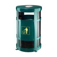 供应成都 市辖 锦江 青羊市区酒店垃圾桶麦穗P-F108金属垃圾桶