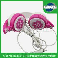 新款外贸头戴式耳机 可加麦克风线控卡通女性耳机 平版手机大耳机