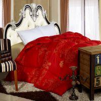 厂家直销 大红双喜被子 婚庆加厚保暖被子被芯 婚庆床品 羽丝绒被