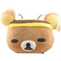 SAN-X原单,居家装饰,大头轻松熊靠垫,蜜蜂轻松熊抱枕