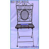滢发 欧式铁艺折叠座椅 创意 高档休闲座椅 精致家居椅 可定做490