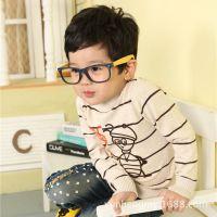 厂家直销纯棉欧美风童装 卡通男童打底衫 中小童针织衫A9503
