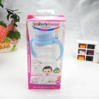 婴儿奶瓶厂家直销标口径双柄自动奶瓶婴儿奶瓶PP300ML放摔8015