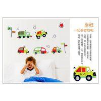 速卖通墙贴供应卡通儿童房背景墙装饰壁贴贴纸汽车总动员AY7012