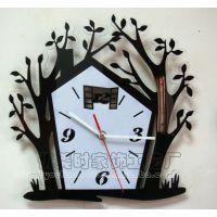 欧式工艺挂钟/艺术创意挂钟 欧洲小镇 浪漫小屋 静音创意造型挂钟