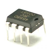 供应直插芯片IC JRC4558D 双路运算放大器 集成电路IC