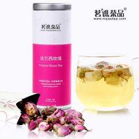 罐装花草茶 特级法兰西玫瑰花茶 美容养颜花茶 贴牌代加工QS认证